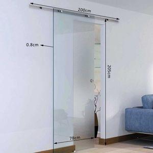 porte coulissante en verre achat vente porte coulissante en verre pas cher soldes d. Black Bedroom Furniture Sets. Home Design Ideas