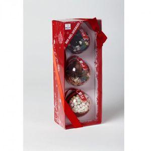 """BOULE DE NOËL Quai Sud - Coffret 3 boules de Noël """"Mon Arbre Gou"""