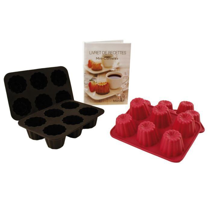 kit 4 moules canneles silicone livre de recettes achat vente moule kit 3 moules chocolat. Black Bedroom Furniture Sets. Home Design Ideas