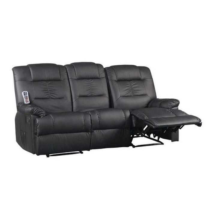 Canap massant lectriques 3 places achat vente canap sofa divan c - Canape cuir haute qualite ...