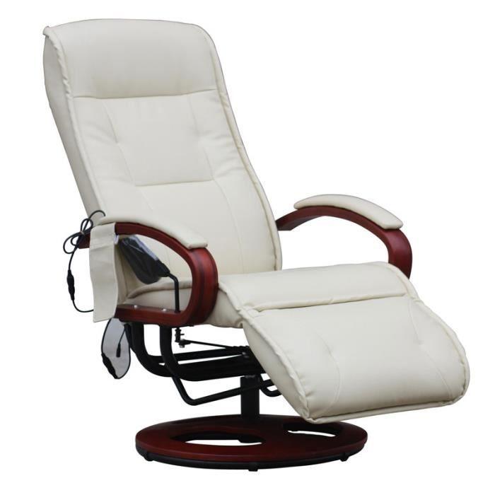 fauteuil de massage relaxation pivotant achat vente fauteuil cuir m tal cdiscount. Black Bedroom Furniture Sets. Home Design Ideas