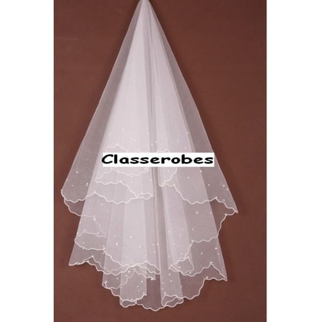 voile perles pour robe de mari e soir e princesse blanc