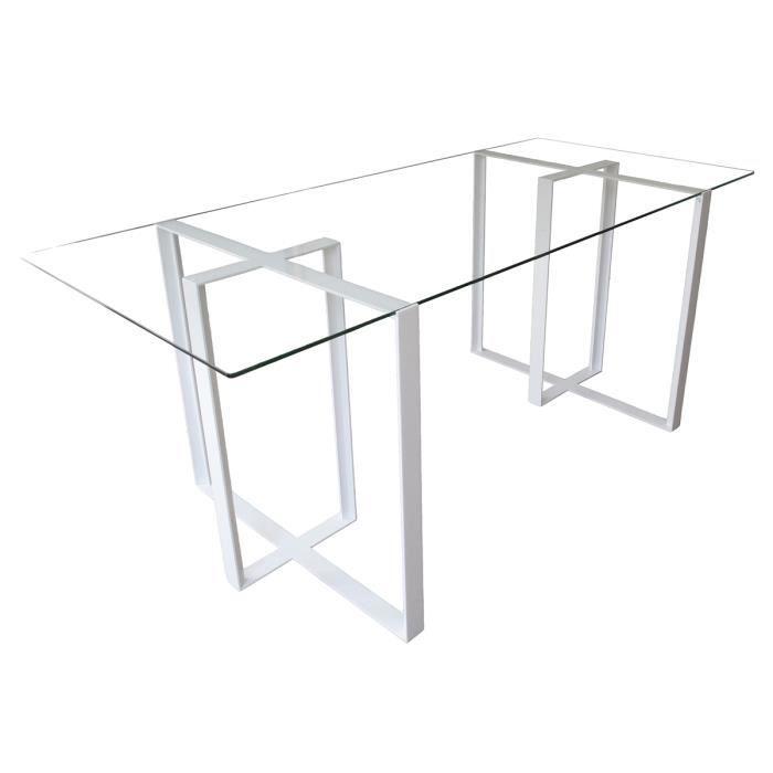 bureau acier et verre maison design. Black Bedroom Furniture Sets. Home Design Ideas