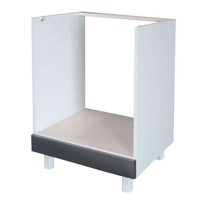 meuble four bas - achat / vente meuble four bas pas cher - cdiscount - Meuble Cuisine Four Encastrable