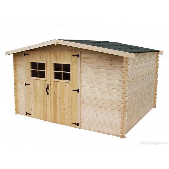 abri de jardin bois 9 m2 3x3 m p 28mm achat vente abri jardin chalet abri de jardin bois. Black Bedroom Furniture Sets. Home Design Ideas