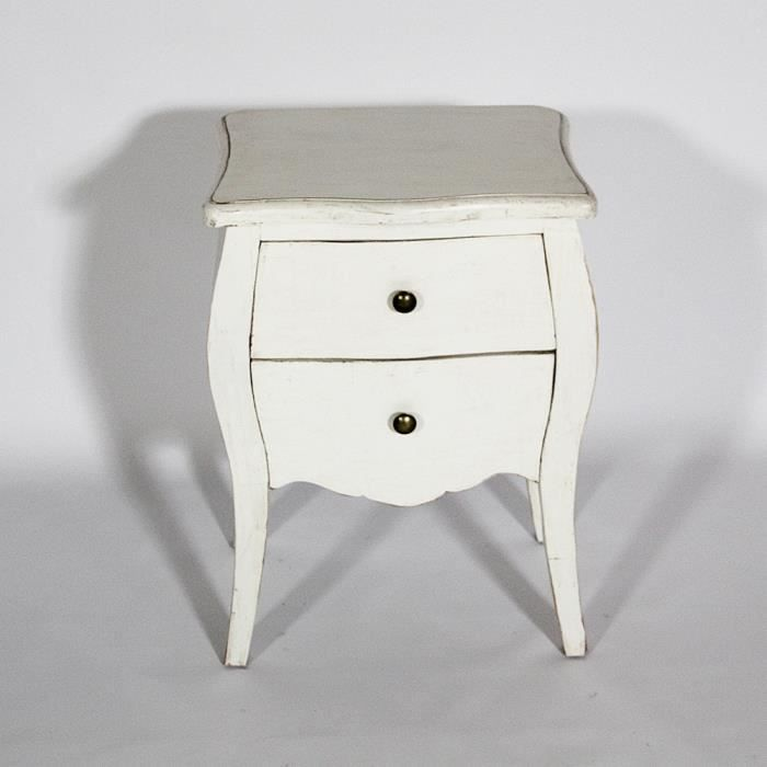 commode galb e baroque petit mod le blanc achat vente chevet commode galb e baroque peti. Black Bedroom Furniture Sets. Home Design Ideas