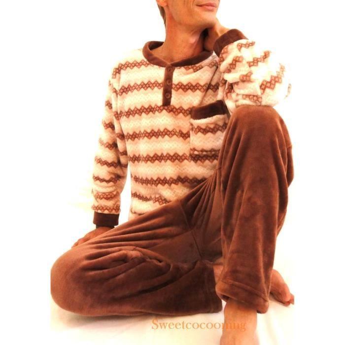 Pyjama chaud pour homme pilou polaire confort qualit for Pyjama homme chaud