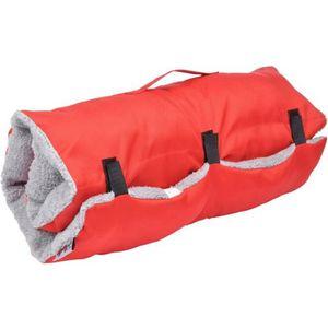 Matelas de voyage - 80x50 cm - Rouge et gris - Pour chien