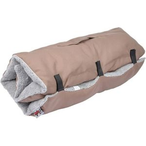 Matelas de voyage - 80x50 cm - Taupe et gris - Pour chien