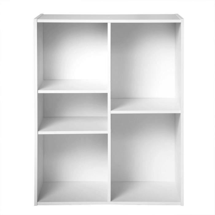 Compo cube 5 cases blanc achat vente petit meuble for Meuble 12 cases