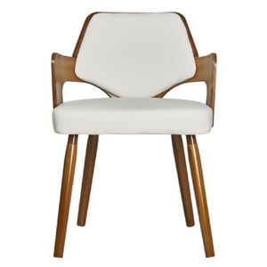 chaise blanche pied bois - achat / vente chaise blanche pied bois ... - Chaise Blanche Pied En Bois