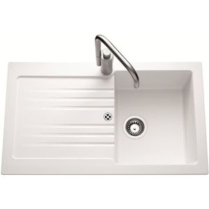 Evier blanc achat vente evier blanc pas cher cdiscount for Evier cuisine 86 x 50