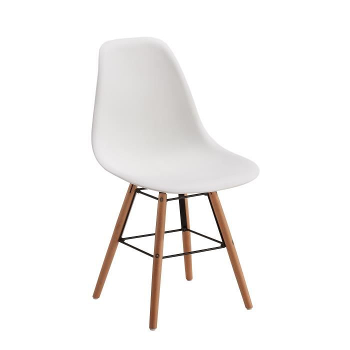 Stella chaise de salle manger blanc achat vente for Soldes chaises salle a manger