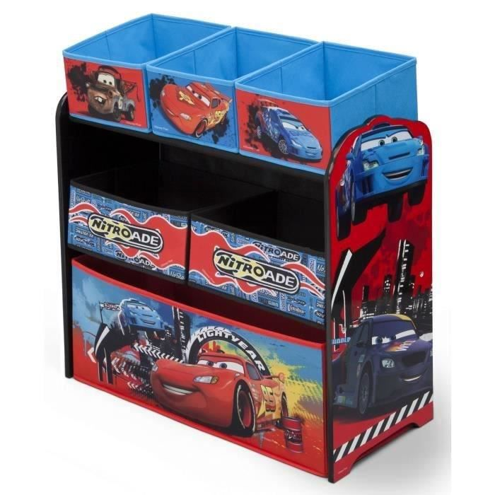 CARS Meuble de rangement enfant jouets 6 bacs - Achat ...
