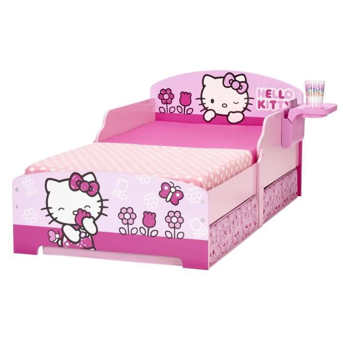Hello kitty lit enfant avec rangement 70 x 140 cm achat vente lit complet - Lit petite fille pas cher ...