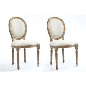 CHAISE VERSAILLES Lot de 2 chaises de salle à manger en t