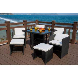 Tables chaises fauteuils achat vente tables for Ensemble salon de jardin en resine pas cher