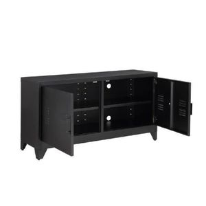 meuble metal noir achat vente meuble metal noir pas cher cdiscount. Black Bedroom Furniture Sets. Home Design Ideas