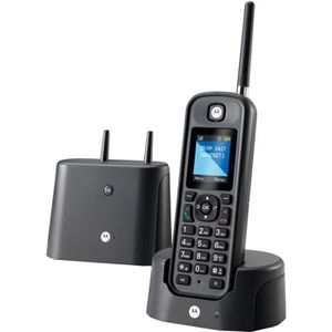 Téléphone fixe Motorola O201 Noir Sans FIl