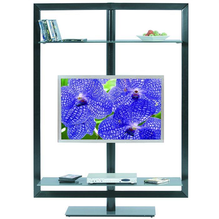 meuble tv pivotant turn up noir achat vente meuble tv meuble tv turn up noir cdiscount. Black Bedroom Furniture Sets. Home Design Ideas