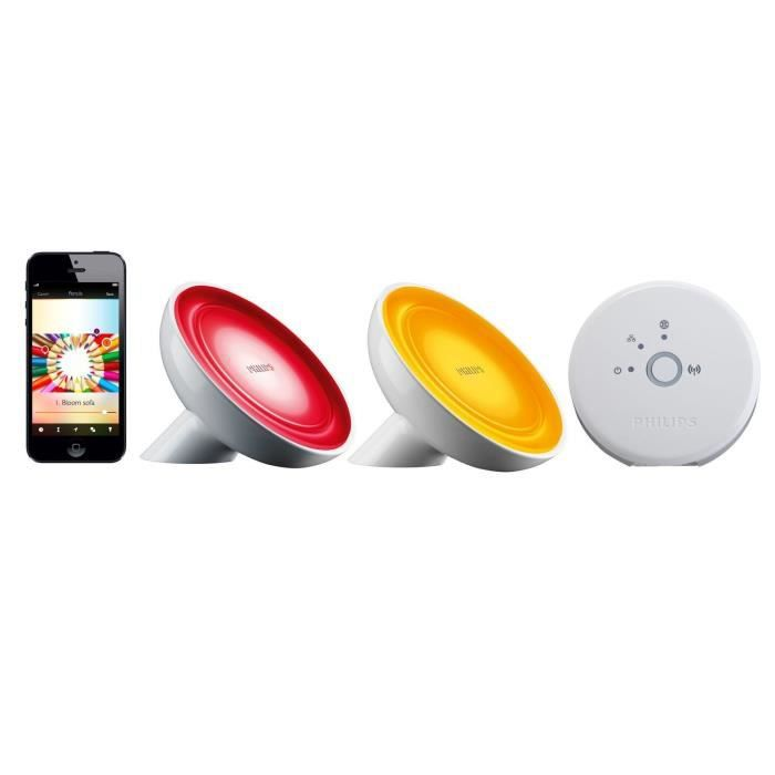Philips hue pack 2 lampes connect es livingcolors bloom - Pont philips hue ...