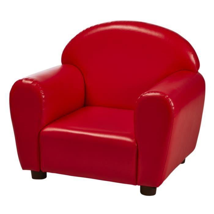 fauteuil club enfant en simili rouge achat vente fauteuil rouge structure bois rev tement. Black Bedroom Furniture Sets. Home Design Ideas
