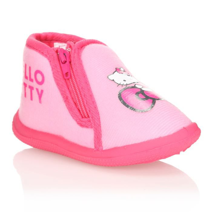 hello kitty chaussons gabari b b fille rose achat vente chausson pantoufle cdiscount. Black Bedroom Furniture Sets. Home Design Ideas