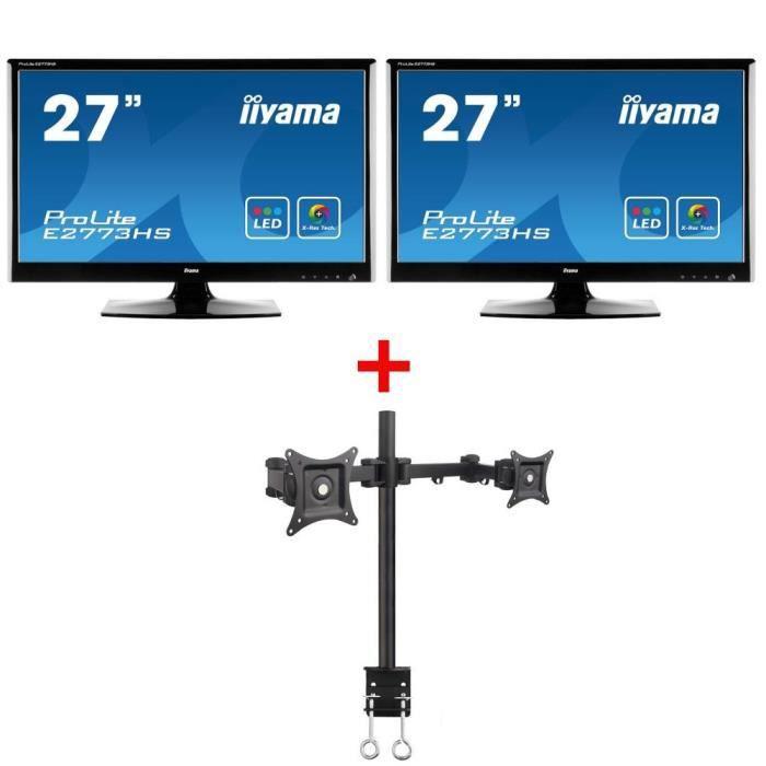 2 crans iiyama e2773hs gb1 support achat vente ecran ordinateur 2 crans e2773hs gb1. Black Bedroom Furniture Sets. Home Design Ideas