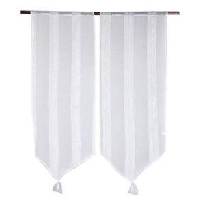paire de rideaux voilage 60 x 120 blanc achat vente paire de rideaux voilage 60 x 120 blanc. Black Bedroom Furniture Sets. Home Design Ideas