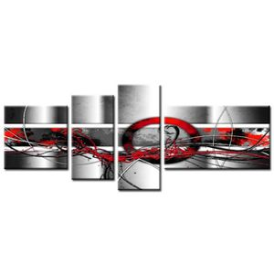 art tableau multi panneaux abstrait 160x60 cm achat vente tableau toile toile coton mdf. Black Bedroom Furniture Sets. Home Design Ideas