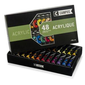 PEINTURE ACRYLIQUE CAMPUS Coffret Acrylique 48 Tubes 21 ml