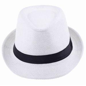 CHAPEAU - BOB unisexe haut plage visière chapeau de paille court
