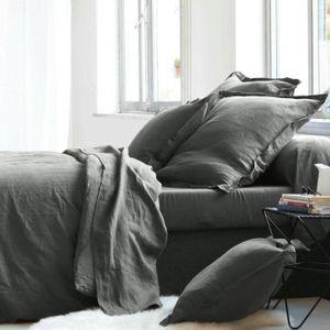 housse de couette lin lave achat vente housse de couette lin lave pas cher soldes cdiscount. Black Bedroom Furniture Sets. Home Design Ideas