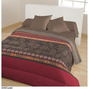couettes imprimees bicolores achat vente couettes. Black Bedroom Furniture Sets. Home Design Ideas