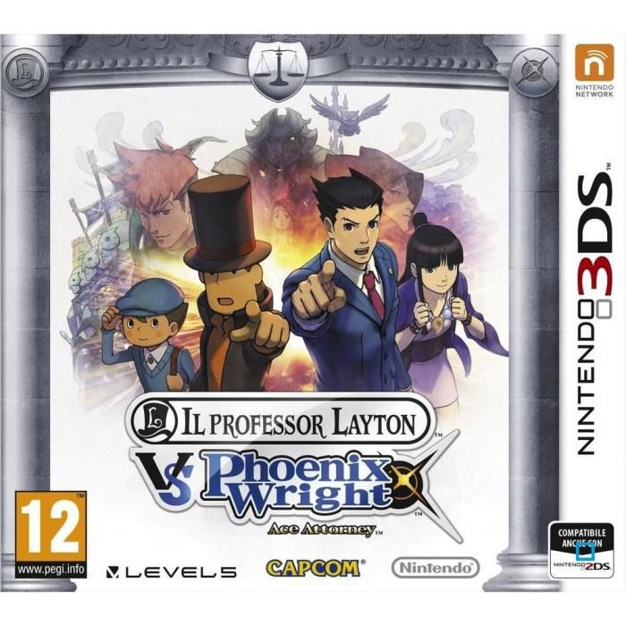 JEU 3DS Prof. Layton vs Phoenix Wright Ace Attorney Jeu3DS
