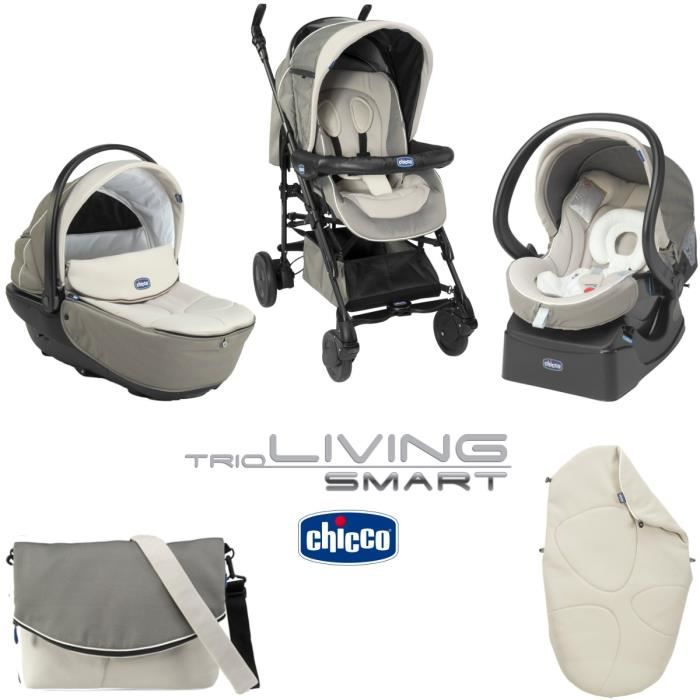 Chicco trio living smart chick to chick poussette combin e - Poussette chicco trio living pas cher ...