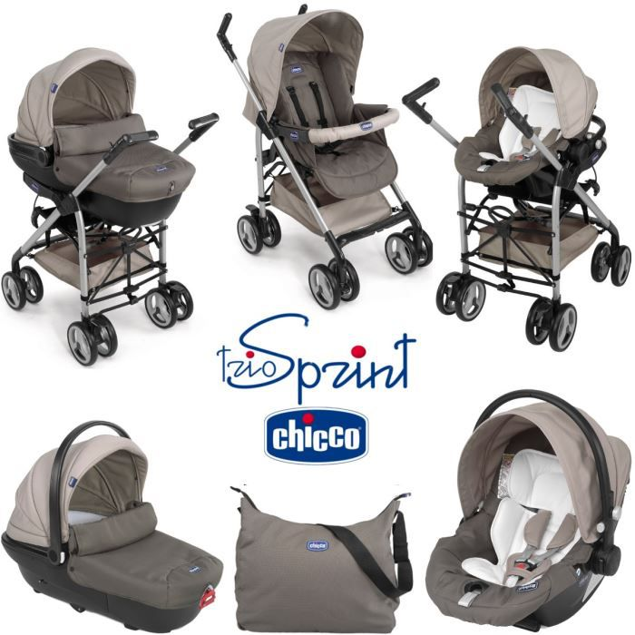 POUSSETTE  CHICCO Trio Sprint Dove Grey