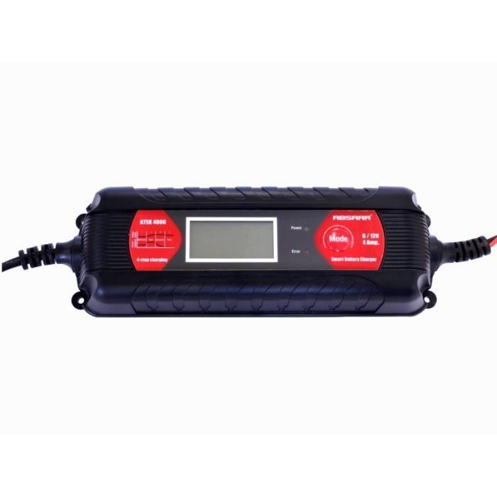 chargeur batterie absaar atek 4000 4a 6 12v lcd achat vente chargeur de batterie chargeur. Black Bedroom Furniture Sets. Home Design Ideas