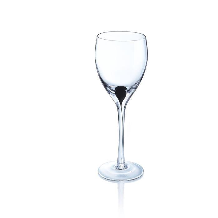 Luminarc drip noir 4 verres pied 27 cl achat vente for Service de table en verre
