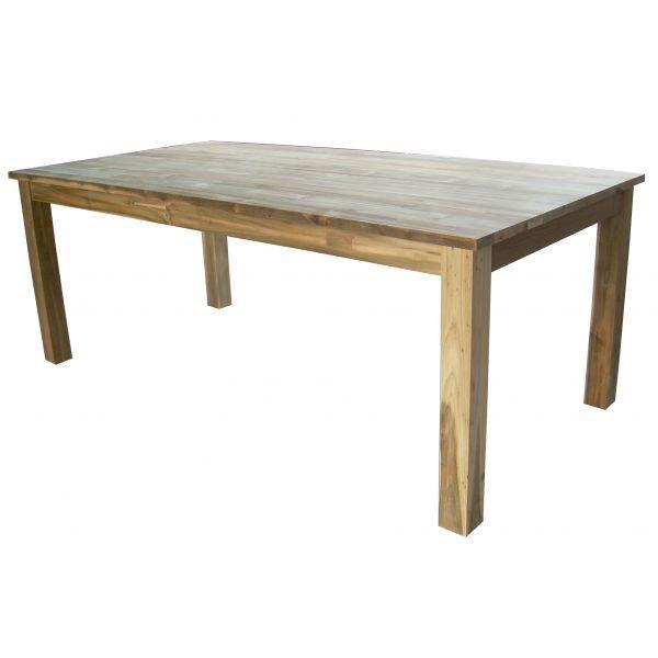 Table repas en teck recycl kota achat vente table for Table en teck recycle