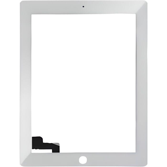 vitre ecran tactile complet pour ipad 2 blanc prix pas cher cdiscount. Black Bedroom Furniture Sets. Home Design Ideas