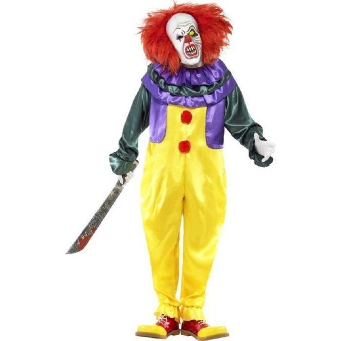 Deguisement de clown terrifiant halloween polyester - Jeux de clown tueur gratuit ...