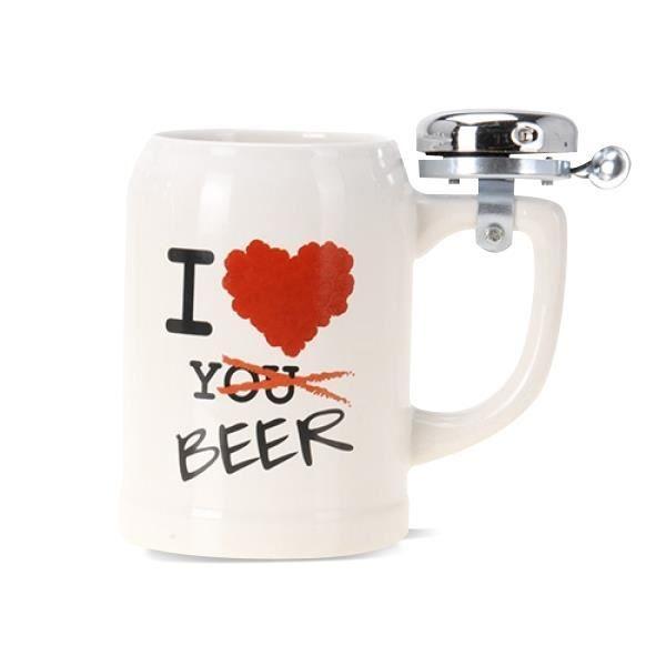La chope de bi re avec sonnette i love beer diff rents for Maison de la biere reims