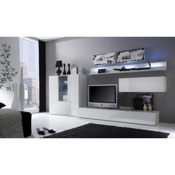 meuble de rangement moderne blanc laqu 4 portes trendy 1749 meuble moderne blanc. Black Bedroom Furniture Sets. Home Design Ideas