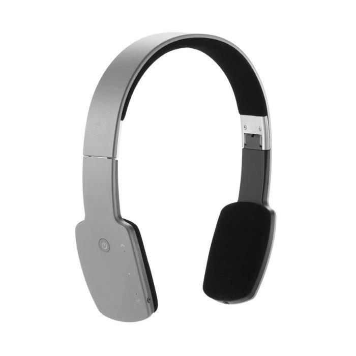 casque audio bluetooth gris casque couteur audio. Black Bedroom Furniture Sets. Home Design Ideas