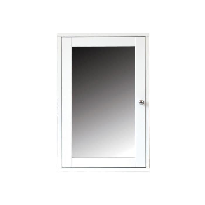 Leni miroir de salle de bain 40 cm blanc achat vente for Porte miroir 60 cm
