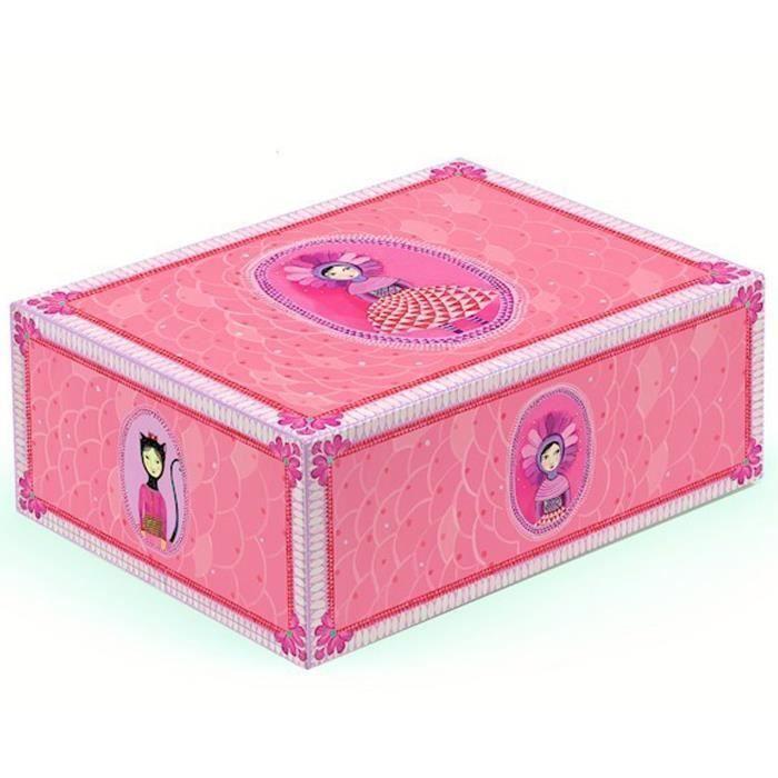 bo te de rangement pr cieuse pour chambre frida achat vente coffre jouets 3070900032200. Black Bedroom Furniture Sets. Home Design Ideas