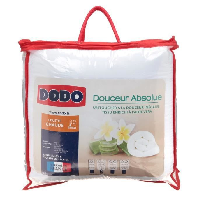 dodo couette chaude douceur absolue 200x200 cm blanc achat vente couette soldes cdiscount. Black Bedroom Furniture Sets. Home Design Ideas