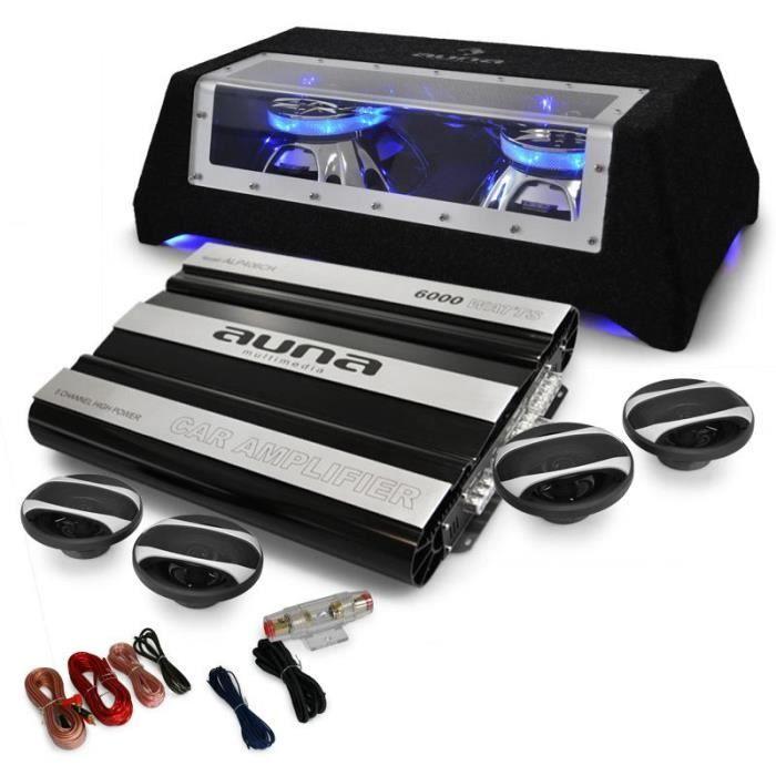 pack auto sono car hifi 4 1 6000w ampli sub 4 hp pack sono avis et prix pas cher cdiscount. Black Bedroom Furniture Sets. Home Design Ideas