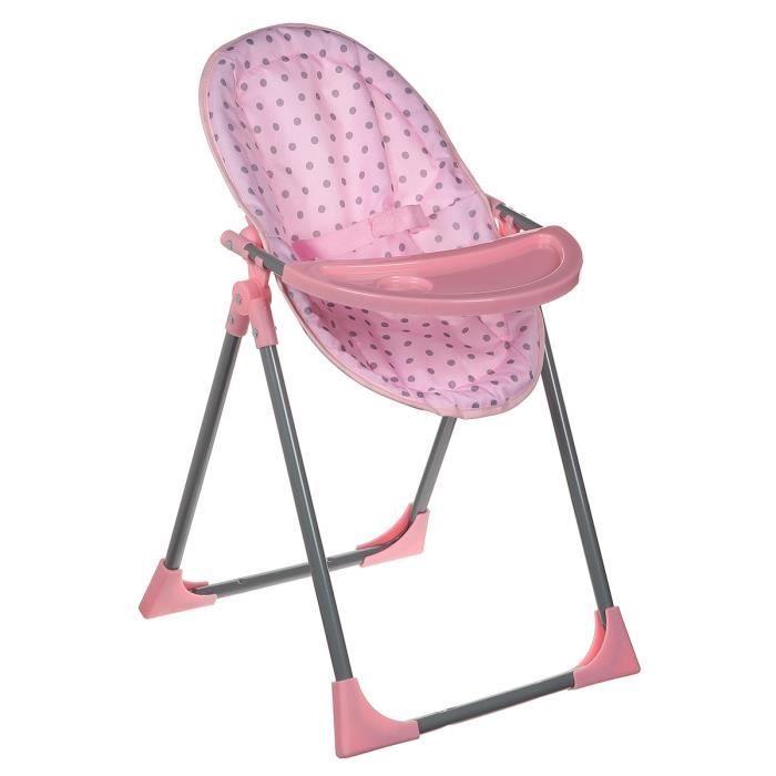 lissi dolls chaise poupon 4 en 1 achat vente nurserie cdiscount. Black Bedroom Furniture Sets. Home Design Ideas